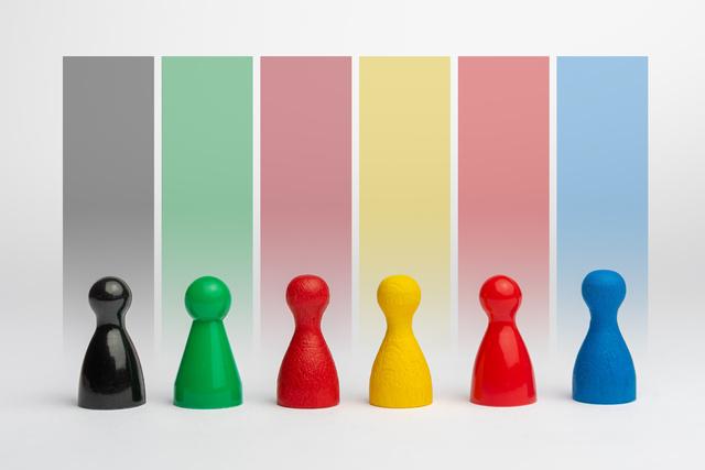 Spielfiguren, Bundestagswahl, Wahl, Farben