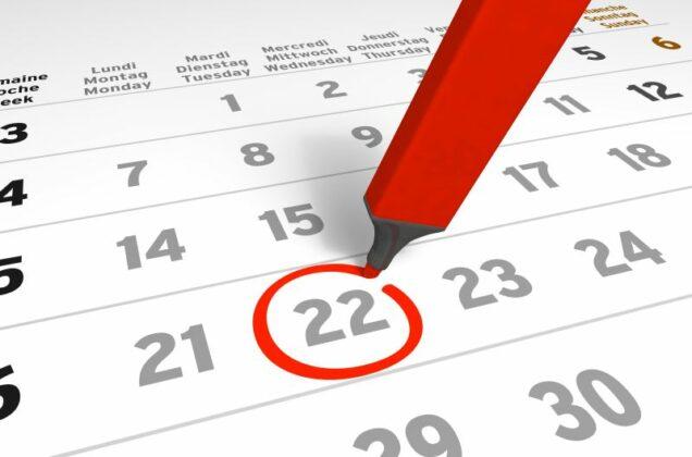 eingekringelter Termin auf einem Kalender