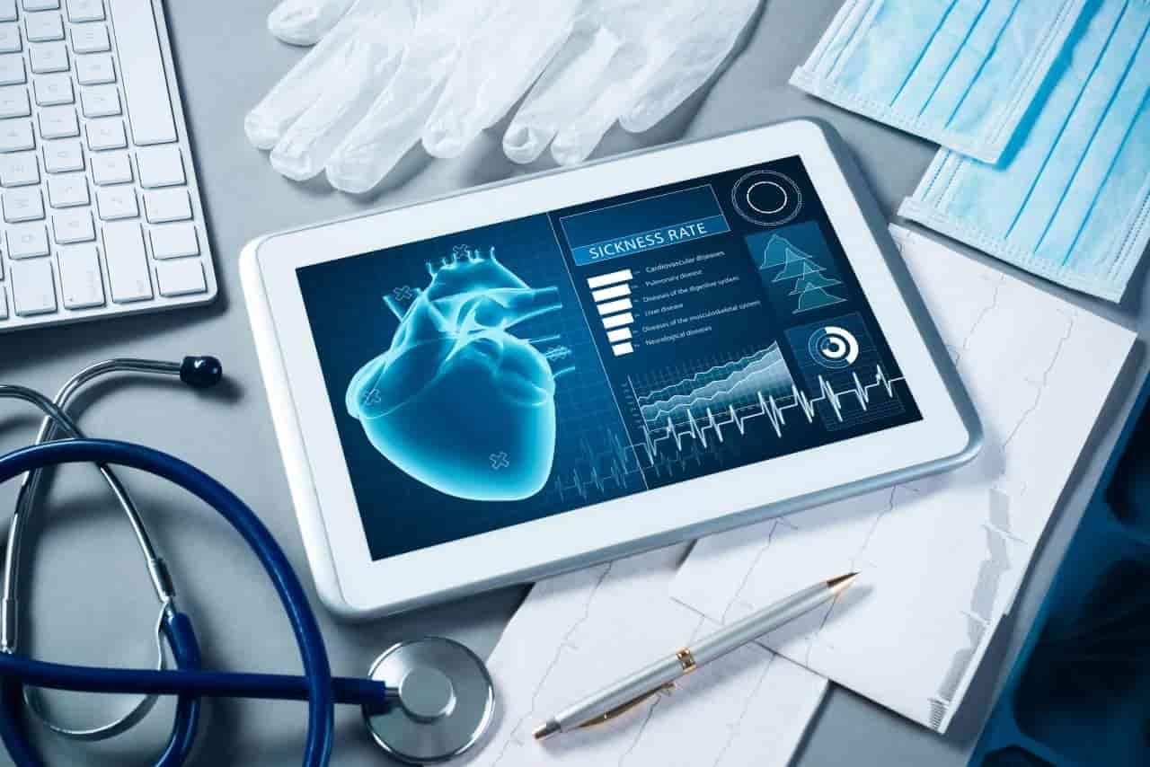 Tablet mit medizinischen Daten