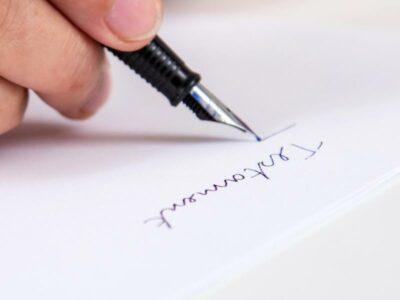 handgeschriebenes Testament